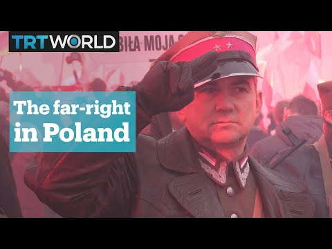 """Far-right groups march for a """"white Poland"""""""