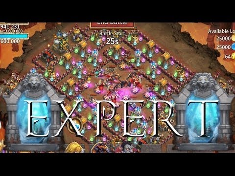 Castle Clash Last Expert Dungeon 8.10  Tips For Victory. NO Mino