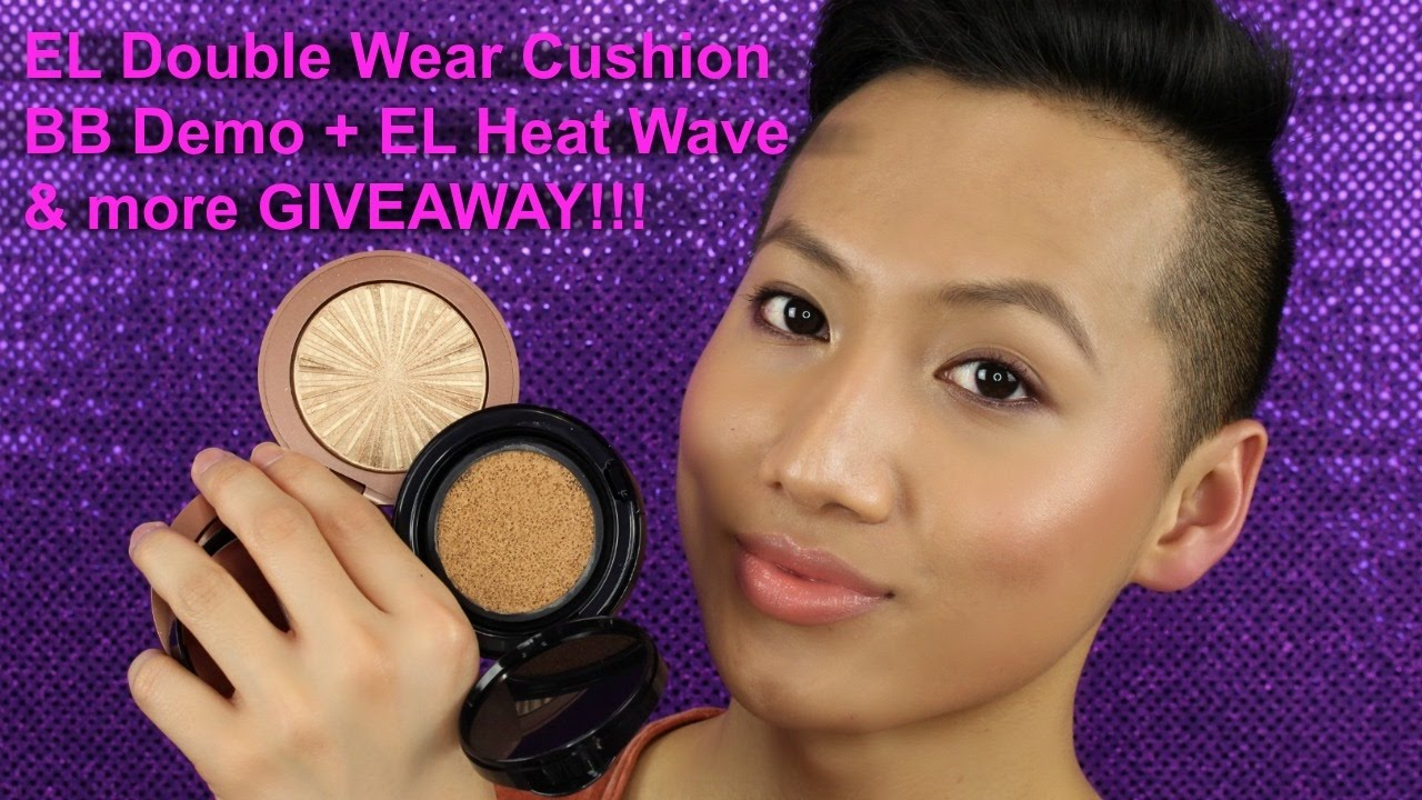 Estee Lauder Double Wear Cushion Bb Review Demo Bronze Goddess Heat Wave Giveaway Hueyyrouge