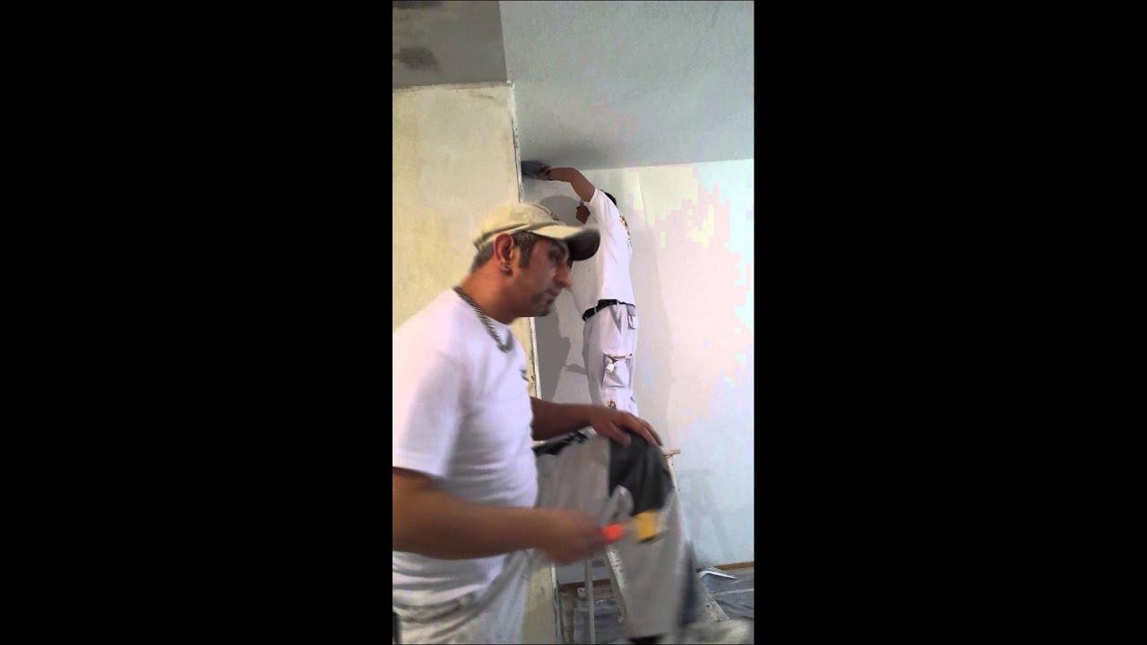 Ak maler verkleben von malervlies tapezieren von - Youtube tapezieren ...
