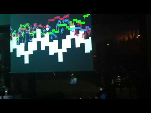 Classical music visualization live performance