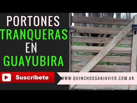 PORTÓN TRANQUERA PARA CASA CAMPO QUINTA EN MADERA DURA GUAYUBIRA.PORTONES DE MADERA RUSTICOS
