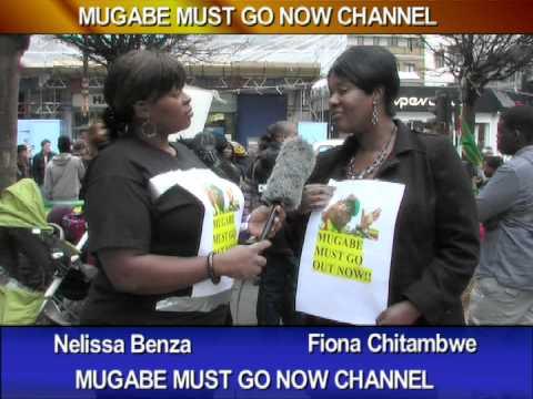 Anti-Mugabe activist Nellisa Benza speaks to Activists at the Vigil