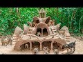 Build Most Amazing Villa Mud House For Collect abandoned Dogs
