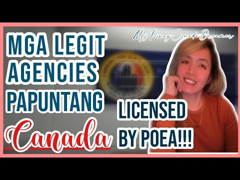 POEA List of Licensed RECRUITMENTS AGENCIES & POSITIONS for CANADA 2020||MJPinayCanadaDreamer