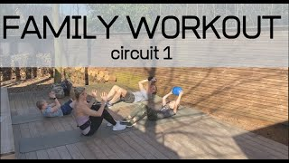 Family workout outdoor 1