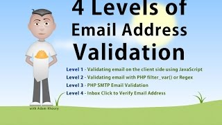 Email Address Validate 4 Levels JavaScript PHP Verify Tutorial