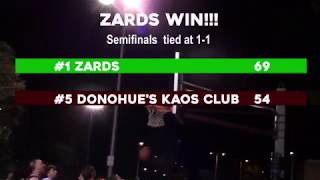 Top Seed Zards Stay Alive With 69-54 Win Over #5 Donohue's Kaos Club