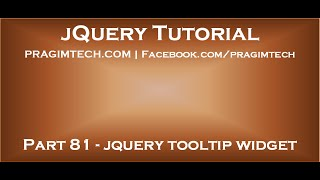 jQuery tooltip widget