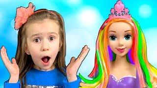Lika play with COLOR CHALK Beauty Salon for Dolls with Joy Joy Lika