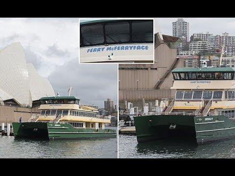 Ferry McFerryface has set sail on her maiden voyage Sydney