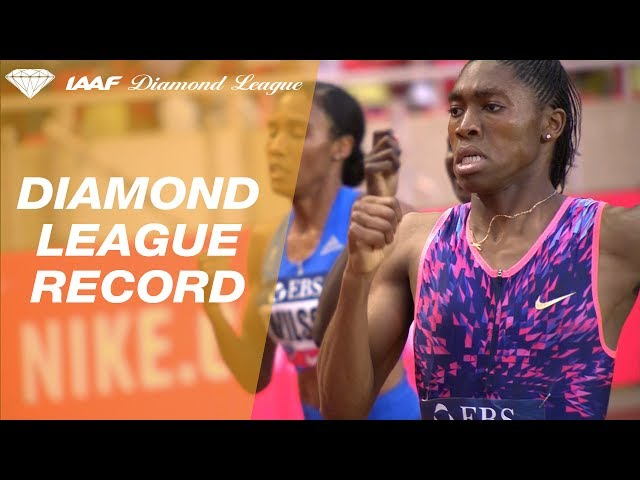 Caster Semenya with an amazing 1.55.27 to win 800m Women - IAAF Diamond League Monaco 2017