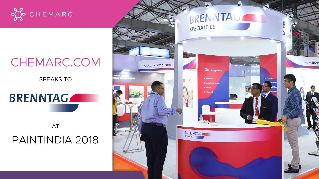 Chemarc com speaks to Brenntag at Paintindia 2018