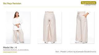 Bol Paça Pantolon - Büyük Beden Tesettür Pantolon Modelleri