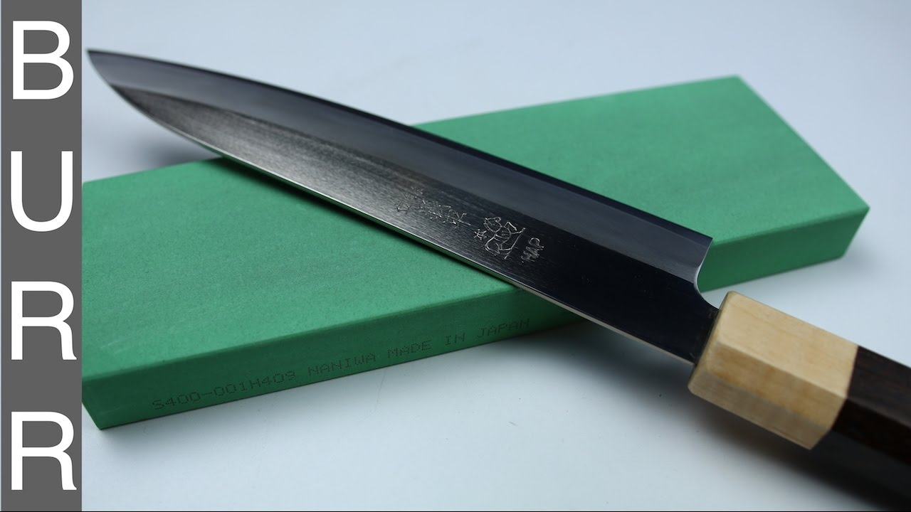 Naniwa Super Stone 400 Sharpening Gihei Hap40 Chef Knife 66 HRC