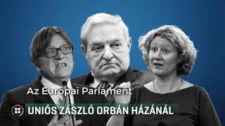 Uniós zászló Orbán házánál 2018-09-23