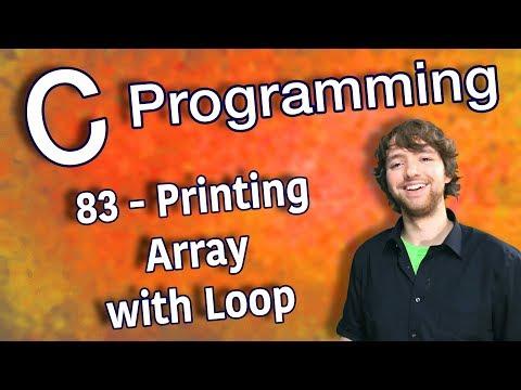 C Programming Tutorial 83 - Printing Array with Loop thumbnail