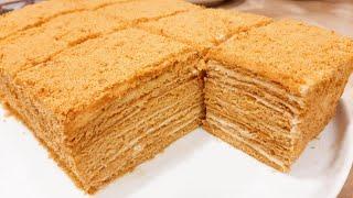 САМЫЙ быстрый ТОРТ Медовик РЕЦЕПТ Без Заморочек и Раскатки коржей Медовый торт за 1 час