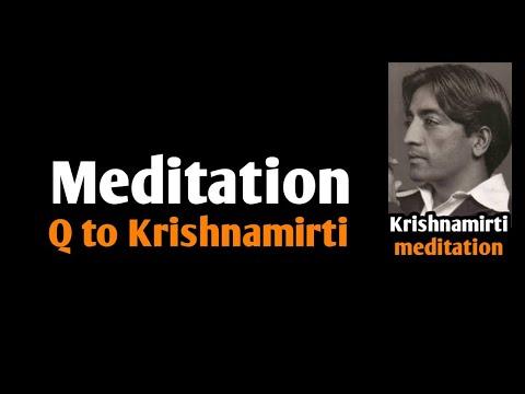 117.ZBC || Meditation - how it happens || Q to J Krishnamurti || Ashish Shukla from DEEP KNOWLEDGE