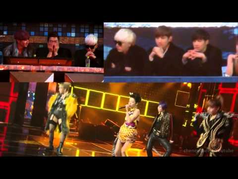2NE1 TVXQ SUPER JUNIOR I LOVE YOU FANCAM SBS GAYO DAEJUN 2012