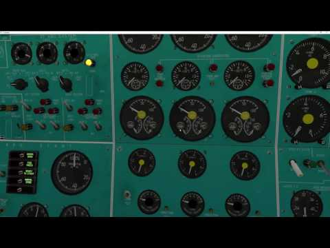 Felis TU-154M Engineering Panel Overview