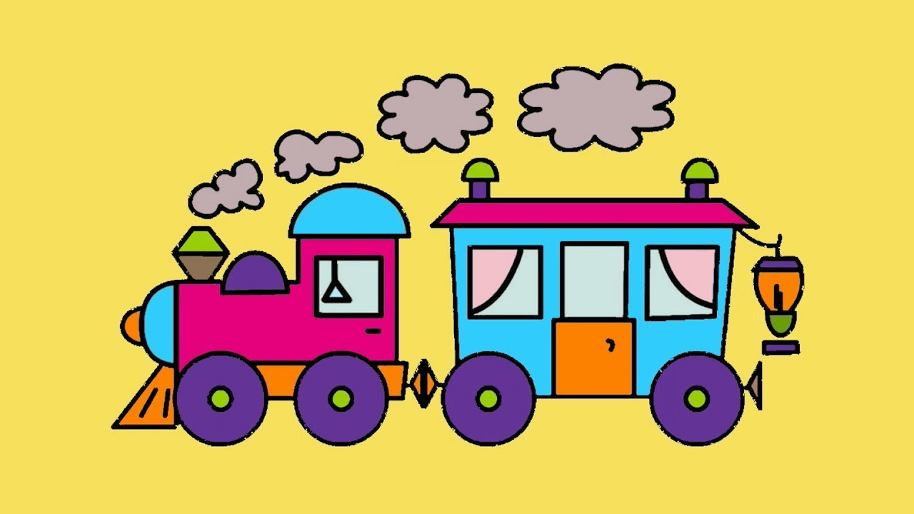 Funny Train becomes colorful - Super cars