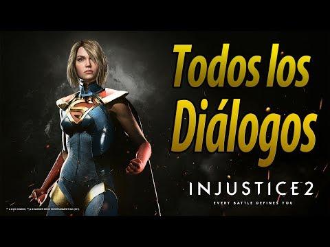 Injustice 2 | Español Latino | Todos los Diálogos | Super Girl | PS4 |
