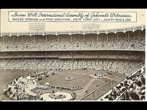 "Yankee Stadium ""Divine Will International Assembly"" 1958 Talk & Song"