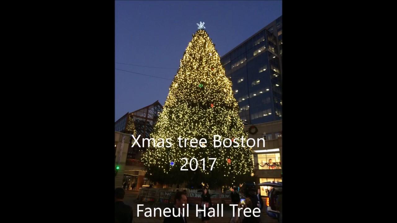Xmas Tree Boston 2017 Lighting Show