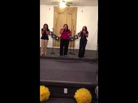 The Fam Singing God is Able (Ariel, Emerald, & Mama Tisha)