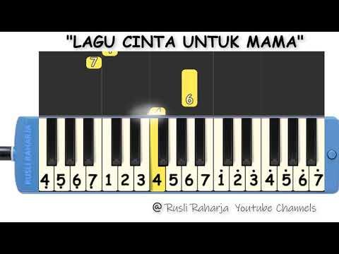 Lagu Cinta Untuk Mama Not Pianika Youtube