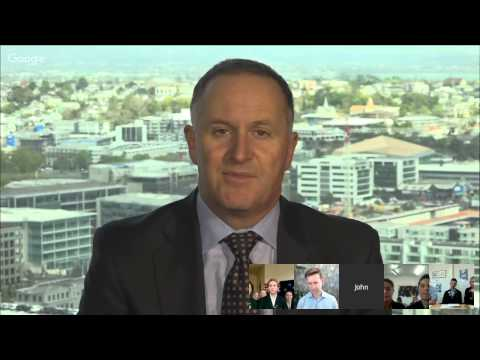 Prime Minister John Key will discuss the New Zealand flag and other issues with students from aro...