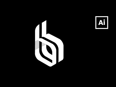 Isometric Logo Design Tutorial. Design letter B lettermark in Adobe Ilslustrator thumbnail