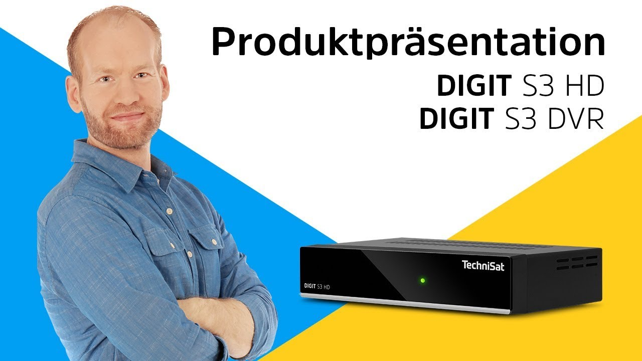 Video: DIGIT S3 DVR / S3 HD | Einfach zu bedienender, kompakter HDTV-Receiver. | TechniSat