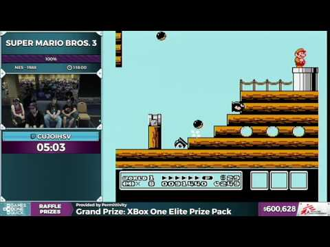 Super Mario Bros. 3 by CujoIHSV in 1:16:27 - SGDQ 2016 - Part 150