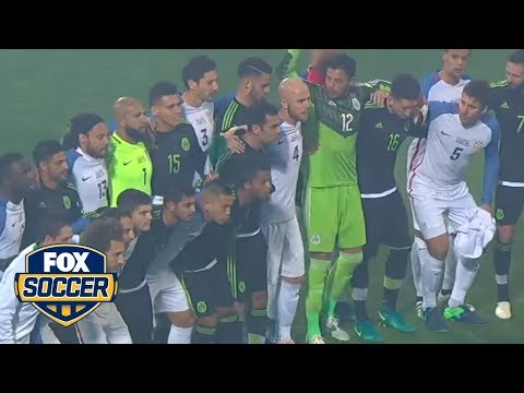 USA and Mexico came together for photo before their World Cup Qualifying match