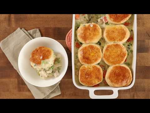 How to Make Mom's Fabulous Chicken Pot Pie with Biscuit Crust | Dinner Recipes | Allrecipes.com