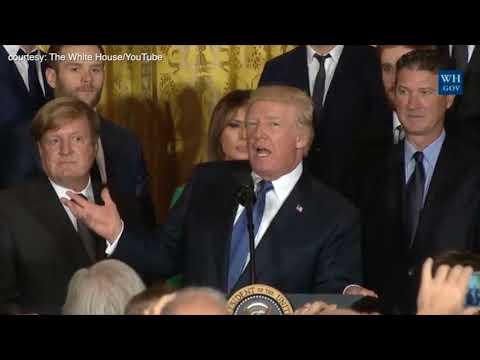 Trump welcomes NHL's Pittsbrugh Penguins to White House