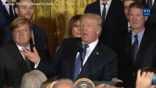 Trump welcomes NHL