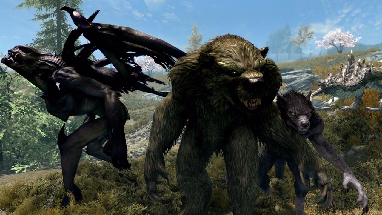 Skyrim PS4 Mods: Dragons, Gargoyles, & Were-bears (Follower Mods)