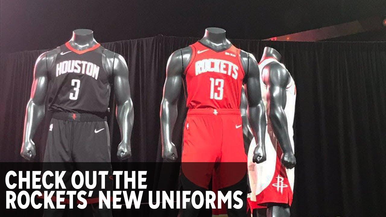 separation shoes ce7d8 4ee94 Houston Rockets unveil new uniforms