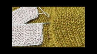 Полупатентная резинка . 2 метода вязания. Подготовительное видео.