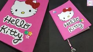 DIY Hello Kitty Notebook / How to make Notebook / DIY Notebook