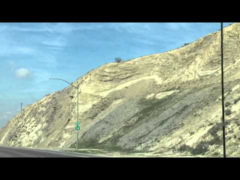 HWY 14 cut through the San Andreas fault in Palmdale Califo