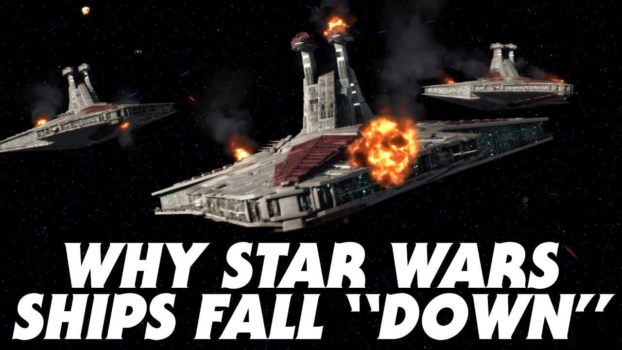 """Why Ships Fall """"Down"""" in Star Wars Regardless of Gravity - Star Wars Explained #Shorts"""