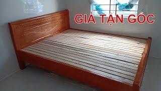 Giường gỗ sồi nga 1m6 x 2m giá rẻ tại Mộc Nam Huy 0948.086.889