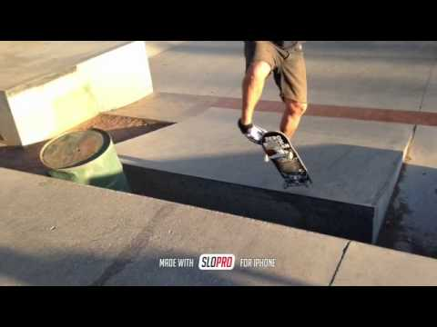 kickflip at North Hollywood skate plaza