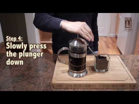 How do you make coffee in a french press video
