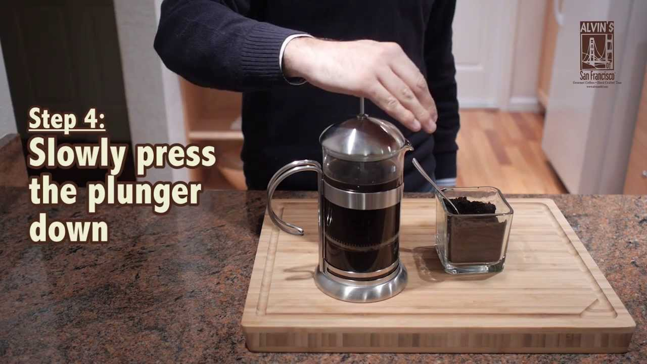 how to use a french press coffee brewer youtube. Black Bedroom Furniture Sets. Home Design Ideas