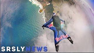 Wer springt im Wingsuit für Red Bull in den Tod?